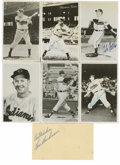 """Autographs:Photos, Cleveland Indians Signed Photographs Lot of 7. Offered is a lot of5x7"""" black and white photographs, all signed, by members..."""