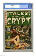 Golden Age (1938-1955):Science Fiction, Tales From the Crypt #32 (EC, 1952) CGC VF/NM 9.0 Off-white pages.The circus is getting a little unruly on the Jack Davis c...