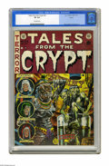 Golden Age (1938-1955):Horror, Tales From the Crypt #33 (EC, 1952) CGC VF 8.0 Off-white pages. Thefemale mummy on this Jack Davis cover isn't quite as sex...