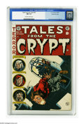 Golden Age (1938-1955):Horror, Tales From the Crypt #43 Gaines File pedigree 2/12 (EC, 1954) CGCNM 9.4 Off-white to white pages. While 9.8 copies of some ...