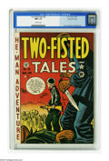 Golden Age (1938-1955):War, Two-Fisted Tales #20 Gaines File pedigree 6/9 (EC, 1951) CGC NM+ 9.6 Off-white pages. This third issue features another colo...