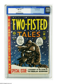 Two-Fisted Tales #26 Gaines File pedigree 7/10 (EC, 1952) CGC NM+ 9.6 Off-white pages. The Korean War was raging as this...