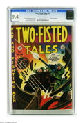 Golden Age (1938-1955):War, Two-Fisted Tales #27 Gaines File pedigree (EC, 1952) CGC NM 9.4Off-white to white pages. Harvey Kurtzman's Korean War cover...