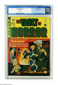 Vault of Horror #14 Gaines File pedigree 4/9 (EC, 1950) CGC NM 9.4 White pages. Do you voodoo? Even if you don't, you'll...