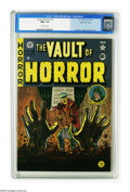 Golden Age (1938-1955):Horror, Vault of Horror #15 Gaines File pedigree 7/10 (EC, 1950) CGC NM+9.6 Off-white pages. Looks like someone isn't quite ready t...
