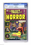 Golden Age (1938-1955):Horror, Vault of Horror #19 Gaines File pedigree (EC, 1951) CGC NM 9.4Off-white pages. Here's a sharp-as-a-tack copy of the eighth ...