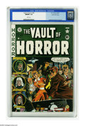 Golden Age (1938-1955):Horror, Vault of Horror #20 Gaines File pedigree 11/12 (EC, 1951) CGC NM/MT9.8 White pages. The mob rules on this busy Johnny Craig...