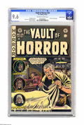Golden Age (1938-1955):Horror, Vault of Horror #24 Gaines File pedigree 4/11 (EC, 1952) CGC NM+9.6 Off-white to white pages. This issue spotlights Johnny ...