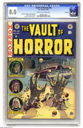 Golden Age (1938-1955):Horror, Vault of Horror #26 Northford pedigree (EC, 1952) CGC VF 8.0 Creamto off-white pages. Classic Johnny Craig cover, with inte...
