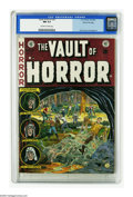 "Golden Age (1938-1955):Horror, Vault of Horror #27 Gaines File pedigree 1/12 (EC, 1952) CGC NM 9.4Off-white to white pages. ""Beware of the Blob!"" This iss..."