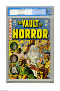 "Golden Age (1938-1955):Horror, Vault of Horror #28 Gaines File pedigree 6/12 (EC, 1953) CGC NM/MT9.8 Off-white to white pages. Johnny Craig's ""zombie brid..."