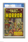 "Golden Age (1938-1955):Horror, Vault of Horror #29 Gaines File pedigree 8/11 (EC, 1953) CGC NM+9.6 Off-white to white pages. This issue's gruesome ""come j..."
