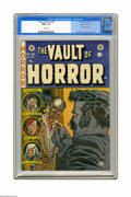 "Golden Age (1938-1955):Horror, Vault of Horror #32 Gaines File pedigree (EC, 1953) CGC NM+ 9.6White pages. There's definitely something ""missing"" on this ..."