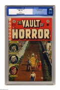 "Golden Age (1938-1955):Horror, Vault of Horror #33 Gaines File pedigree 4/11 (EC, 1953) CGC NM+9.6 White pages. Cover ""hooks"" don't get much better than t..."