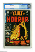 Golden Age (1938-1955):Horror, Vault of Horror #36 Gaines File pedigree (EC, 1954) CGC NM+ 9.6Off-white to white pages. Johnny Craig's red-hot cover is dr...