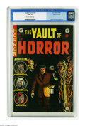 Golden Age (1938-1955):Horror, Vault of Horror #38 Gaines File pedigree 1/12 (EC, 1954) CGC NM+9.6 Off-white to white pages. Johnny Craig's cloaked in bla...