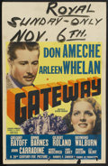"Movie Posters:Adventure, Gateway (20th Century Fox, 1938). Window Card (14"" X 22"").Adventure. ..."