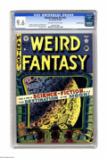 Golden Age (1938-1955):Science Fiction, Weird Fantasy 15 (#3) Gaines File pedigree (EC, 1950) CGC NM+ 9.6Off-white to white pages. Take a trip in Outer Space, cour...