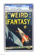 Golden Age (1938-1955):Science Fiction, Weird Fantasy #9 Gaines File pedigree (EC, 1951) CGC NM+ 9.6Off-white to white pages. An Al Feldstein illustration of a roc...