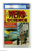 Golden Age (1938-1955):Science Fiction, Weird Science #13 (#2) Gaines File pedigree 4/10 (EC, 1950) CGC NM+9.6 Off-white to white pages. For two weeks during July ...