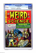 Golden Age (1938-1955):Science Fiction, Weird Science #14 (#3) Gaines File pedigree 9/11 (EC, 1950) CGC NM+9.6 Off-white pages. Here's a beauty of a copy of this t...