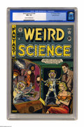 """Golden Age (1938-1955):Science Fiction, Weird Science #15 (#4) Gaines File pedigree 7/9 (EC, 1950) CGC NM+ 9.6 Cream to off-white pages. It's a """"War of the Worlds"""" ..."""
