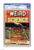 Golden Age (1938-1955):Science Fiction, Weird Science #6 Gaines File pedigree (EC, 1951) CGC NM 9.4 Whitepages. No one drew goofy-looking alien creature covers bet...