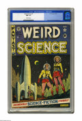 Golden Age (1938-1955):Science Fiction, Weird Science #7 (EC, 1951) CGC NM- 9.2 Off-white pages. An AlFeldstein cover graces this collection of tales of science go...