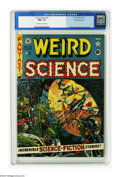 Golden Age (1938-1955):Science Fiction, Weird Science #9 Gaines File pedigree 10/12 (EC, 1951) CGC NM+ 9.6Off-white to white pages. No one, but no one could dr...