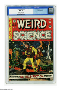 Weird Science #10 Gaines File pedigree 4/11 (EC, 1951) CGC NM+ 9.6 Off-white to white pages. Wally Wood pulls out all th...