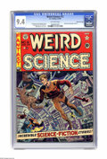 Golden Age (1938-1955):Science Fiction, Weird Science #12 Gaines File pedigree 2/11 (EC, 1952) CGC NM 9.4Off-white pages. A wild Wally Wood cover illustration show...