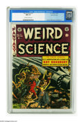 Golden Age (1938-1955):Science Fiction, Weird Science #17 Gaines File pedigree (EC, 1953) CGC NM 9.4Off-white to white pages. Wally Wood's chilling cover illustrat...