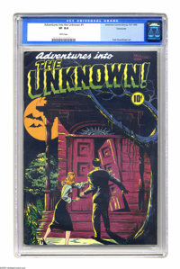 Adventures Into the Unknown #1 Vancouver pedigree (ACG, 1948) CGC VF 8.0 White pages. Word is getting around about the a...
