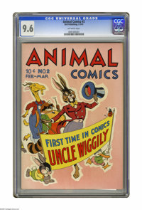 Animal Comics #2 (Dell, 1943) CGC NM+ 9.6 Off-white pages. Walt Kelly's Pogo and Albert make their second appearance in...