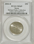 Statehood Quarters: , 2004-D 25C Iowa MS69 PCGS. Michael Fuller Collection. PCGSPopulation (10/0). (#14031)...