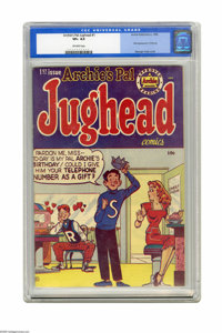Archie's Pal Jughead #1 (Archie, 1949) CGC VF+ 8.5 Off-white pages. What would Archie be without Jughead? His loyal frie...