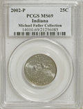 Statehood Quarters: , 2002-P 25C Indiana MS69 PCGS. Michael Fuller Collection. PCGSPopulation (30/0). Numismedia Wsl. Price ...