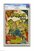 Golden Age (1938-1955):Horror, Beware Terror Tales #5 Crowley Copy pedigree (Fawcett, 1953) CGC VF8.0 Off-white to white pages. We'd never seen this parti...