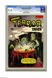 Beware Terror Tales #8 Crowley Copy pedigree (Fawcett, 1953) CGC NM 9.4 Cream to off-white pages. This final issue of th...