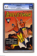 Golden Age (1938-1955):Superhero, Bulletman #3 Lost Valley pedigree (Fawcett, 1942) CGC VF+ 8.5 Off-white pages. This issue's cover, featuring the title chara...