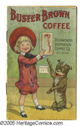 "Platinum Age (1897-1937):Miscellaneous, Buster Brown Premium: Steinwender Stoffregen Coffee (1905)Condition: Incomplete. ""Very Rare"" according to Overstreet, this..."