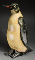 Paintings, A Sergio Bustamante Painted Papier Mache Penguin, 20th century. Marks: SERGIO BUSTAMANTE, 78/100. 38-3/4 inches high (98...