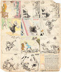 Original Comic Art:Comic Strip Art, Richard F. Outcault Buster Brown Sunday Comic Strip Original Art (Hearst American-Examiner, 1908)....