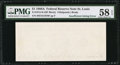 Error Notes:Blank Reverse (100%), Fr. 1915-H $1 1988A Federal Reserve Note. PMG Choice About Unc 58 EPQ.. ...