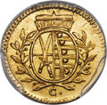German States:Saxony, German States: Saxony. Fredrich August III gold Pattern Pfenning 1765-C MS65+ PCGS,...