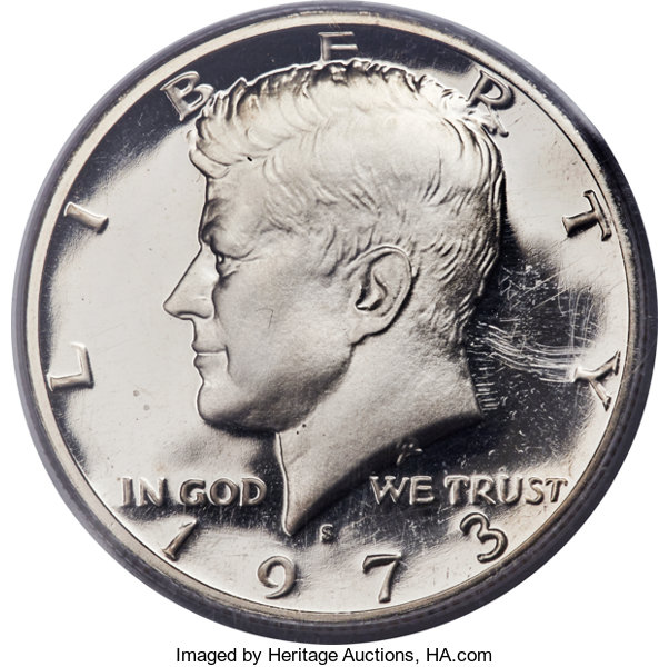 1973-S 50C PR70 Deep Cameo PCGS     Proof Kennedy Half Dollars | Lot