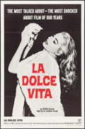 "Movie Posters:Foreign, La Dolce Vita (Cineriz, 1959). One Sheet (27"" X 41""). Foreign.. ..."
