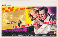 """North by Northwest (MGM, 1959). Belgian (14"""" X 21.25""""). Hitchcock"""