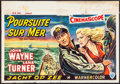 "Movie Posters:War, The Sea Chase (Warner Brothers, 1955). Belgian (14.75"" X 21""). War.. ..."