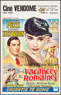 "Movie Posters:Romance, Roman Holiday (Paramount, 1954). Belgian (14"" X 22""). Romance.. ..."